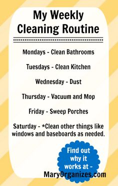 How to keep your house clean all the time without sacrificing your weekend to do it!