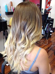 Full balayage ombre Paul Mitchell synchro lift 30 vol, base 6na/7n