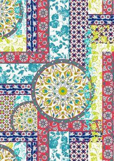 Ursa - Lunelli Textil | www.lunelli.com.br Textile Prints, Textile Patterns, Textile Design, Fabric Design, Print Patterns, Pattern Design, Print Design, Floral Prints, Kids Wallpaper