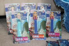 Frozen Birthday Party  Pez Frozen Characters from Dollarama for Pinata