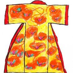 Oil Pastel Kimono