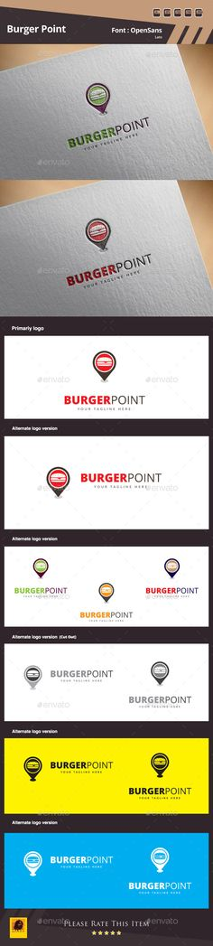 Burger Point Logo Template — Photoshop PSD #service #contact page • Available here → https://graphicriver.net/item/burger-point-logo-template/10780256?ref=pxcr