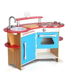Personalized Cook's Corner Wooden Kitchen #zulily #zulilyfinds