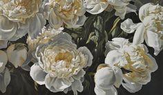 "Saatchi Art Artist Simon Barlow; Painting, ""peonies 300811"" #art"