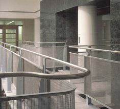 Perforated Metal Handrail Infill Panels    Perforated steel is extremely versatile and applies itself to a variety of applications such as balustrade infill panels, railings infill panels, acoustics and sound proofing, security screens, louvres and ventilation, and air conditioning grilles.    #sheet #steel #perforatedmetal #mesh #sheets #metal #handrail #perforated Metal Handrails, Security Screen, Perforated Metal, Shop Fittings, Metal Mesh, Sound Proofing, Stage Design, Railings, Conditioning