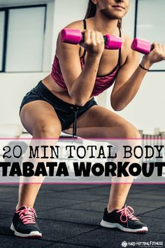 20 MINUTE TOTAL BODY TABATA WORKOUT!