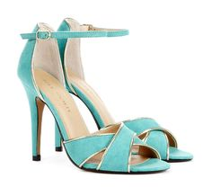 These little turquoise beauties are only $49.95 - I think they'd look lovely peeping out from beneath a wedding gown!