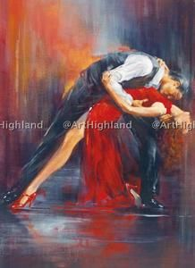 Red love paintings | ... Oil Paintings Painting Canvas Art Love Tango Dance Lady in Red | eBay
