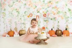 pumpkin first birthday party decorations fall birthday Banner pumpkin patch party banner Highchair Banner one banner cake smash photo prop Fall First Birthday, Girls First Birthday Cake, Pumpkin First Birthday, Birthday Girl Pictures, First Birthday Parties, Pumpkin Birthday Parties, Pumpkin 1st Birthdays, First Birthdays, Fiesta Party Decorations