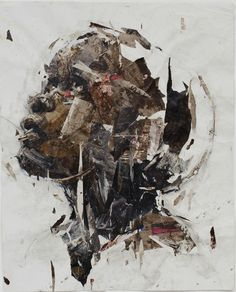 "South African Artist Benon Lutaaya, ""Still Wishing"" Saatchi Art Artist:Paint 2013 Collage"
