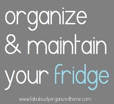 There are simple ways to organize your fridge that don't require you to go out and buy organizing products.  Really!  Which means you can actually start getting your fridge organized right now!