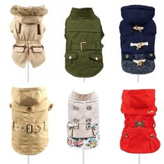 Coat for Small Pets Dog Jacket Coat Cotton Quality Dog Pet Clothes XS S M L XL #Unbranded