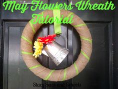 Stacy Sews and Schools: May Flowers Wreath DIY