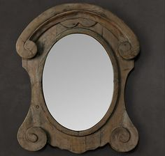 Original Zinc Mirror Bathroom Design Restoration Hardware Rustic Bathroom