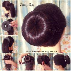 love my hairdo: Donut Bun DIY donut bun Bridal Hair Buns, Bridal Hairdo, Donut Bun Hairstyles, Trendy Hairstyles, Beach Hairstyles, Modern Haircuts, Party Hairstyles, Medium Hair Styles, Long Hair Styles