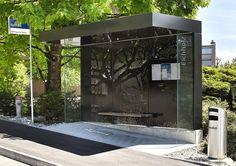 Серия автобусных остановок в Швейцарии