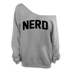 Awkwardstyles Nerd Off the Shoulder Oversized Sweater Sweatshirt Black ❤ liked on Polyvore featuring tops, hoodies, sweatshirts, oversized off shoulder top, off the shoulder sweatshirt, oversized off the shoulder tops, off-shoulder sweatshirts and off the shoulder tops