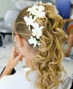 wedding hairstyles for curly long hair kids - Google Search