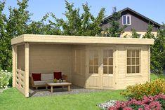 Vorschau: Gartenhaus Modell Summer House Garden, Home And Garden, Wooden Casement Windows, Pottery Wheel, Tiny House, Shed, Outdoor Structures, Sauna, House Architecture
