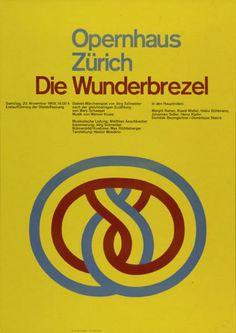 Josef Mueller-Brockmann,  Opernhaus Zürich - Die Wunderbrezel - Dialekt-Märchenspiel von Jörg Schneider-Plakat