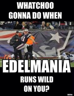 Some trash talking with a lil yelling n lots of celebrating;) but that's only for members of #patsnation