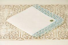8 Ideas for Something Old, New, Borrowed, Blue (via EmmalineBride.com) - vintage handkerchief by duryea place designs