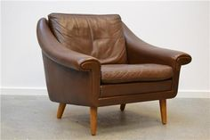 Arrived today: vintage leather Danish armchair for the living room. eBay find ^_^