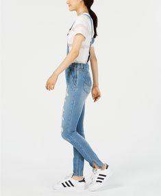 d11f7b27024 Dollhouse Juniors  Ripped Skinny Denim Overalls - Jeans - Juniors - Macy s  Denim Fashion