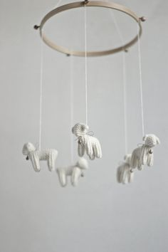 Baby  mobile  nursery mobile  baby crib mobile  Lambs by Patricija, $109.00