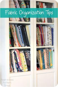 Fabric Organization Tips - Peek-a-Boo Pattern Shop: The Blog