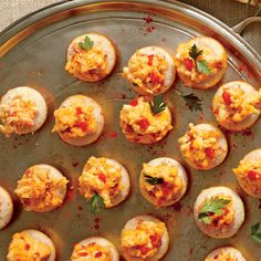 Cornmeal Tarts with Ricotta Pimiento Cheese - Best Party Appetizers and Recipes - Southern Living