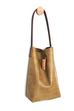 mini.malist leather tote bag 'de oro'