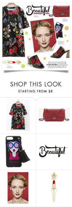 """""""Beautiful"""" by mahafromkailash ❤ liked on Polyvore featuring L'Oréal Paris and Christian Louboutin"""