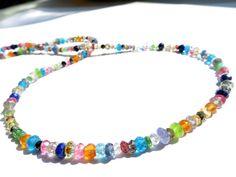 Turmalin - Bunte Edelstein Kette Geschenk Necklace gem - ein Designerstück von Elstar-Design bei DaWanda