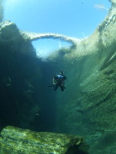 Great diving spot - Maggia river, Ticino, Switzerland