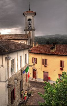 Rainy day in the hilltop village of Monterchi, Arezzo, Toscana - Italy by Anguskirk