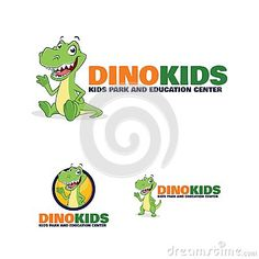 An Unique Kid T-Rex Dinosaur Character Logo great for any purpose!