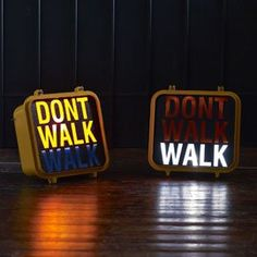 Original Vintage New York Walk/Don't Walk Sign Home Lighting Accessories: Amazon.co.uk: Lighting