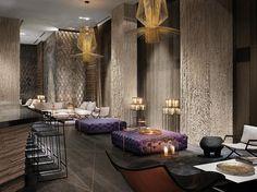 Woman Cave Basement Living Room Bar/Lounge-Miami - W South Beach Design Entrée, Hotel Lobby Design, House Design, Interior Design, Design Ideas, Design Miami, Lobby Interior, Design Room, Luxury Interior