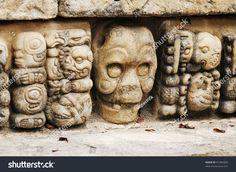 Western Honduras, Archeological Park in Copan, 2011 -  Mayan glyphs in
