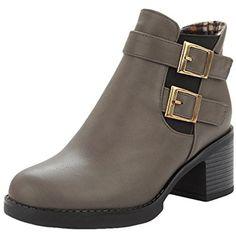 Women's Monk Strap Chunky Heels Ankle Fall Boots * Find out more about the great product at the image link. (This is an affiliate link) #AnkleBootie