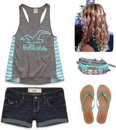 """hollister summer outfit"" by paisley-jade on Polyvore"