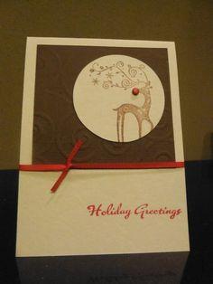 hand made kite cards | Rudolph Reindeer Christmas Card Handmade by CTCreativeTreasures, $4.00