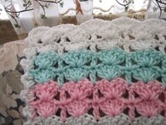 This was my great grandmas favorite pattern she made all of her baby blankets out of it her last couple of years--but I liked a different pattern so she started me one with another pattern- but sadly was never able to finish it- maybe one day I will have a need for it and will be able to finish it. <3
