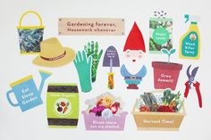Garden Party Photo Booth Props Gardening Photo Booth Props