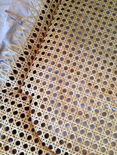 Thrifty Treasures: My first time caning.  Chair caning tutorial.