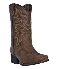 Look at this Dan Post Neutral Western Boot - Kids on #zulily today!