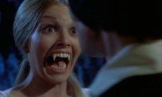 Katya Wyeth as Mircalla Karnstein and David Warbeck as Anton Hoffer. in 'Twins of Evil', 1971