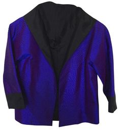 Marisa Baratelli *new* Reversible Skylar Silk Jacket Top Purple/Black. Get the lowest price in town on this fabulous Marisa Baratelli Reversible Bolero Silk top in Purple/Black and other colors too! Tradesy makes designer fashion affordable and fun. Shop now