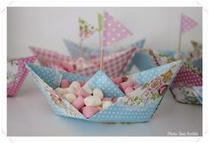 Greengate boat.....cute for a birthday table